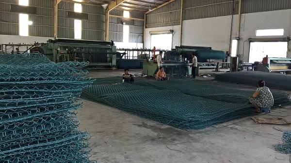 Qúa trình gia công, lắp ráp các rọ đá tại Phú An Nam
