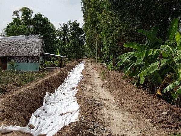 Vải địa kỹ thuật không dệt được sử dụng tại các tỉnh Tiền Giang