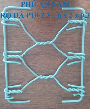 Rọ đá mắc lưới P10 dây đan 2.2 mm kích thước (6 x 2 x 0.3)m, rọ đá mạ kẽm, rọ đá bọc PVC, rọ đá