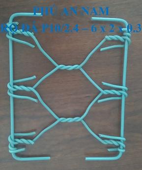 Rọ đá mắc lưới P10 dây đan 2.4 mm kích thước (6 x 2 x 0.3)m, rọ đá mạ kẽm, rọ đá bọc PVC, rọ đá