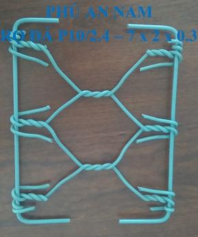 Rọ đá mắc lưới P10 dây đan 2.4 mm kích thước (7 x 2 x 0.3)m, rọ đá mạ kẽm, rọ đá bọc PVC, rọ đá